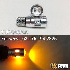 T10 W5W 194 168 2825 175 Parking marker corner Light Amber 6 SMD LED Bulb M1 M
