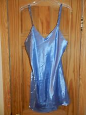 Jo Intimates baby blue Satin Short Nightgown (M) Women's NWT