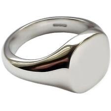 Echte Edelmetall-Ringe ohne Steine im Siegelring-Stil aus Sterlingsilber für Damen