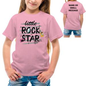Little Rock star T-Shirt Rockstar Funny Cute Kids boys girls printed