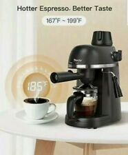 Espresso Machine, Sboly Sycm-54 with Milk Frother, 1-4 Cup Expresso Coffee Make