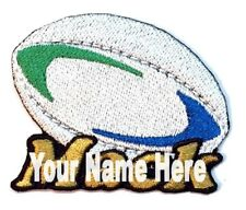 Rugby Custom Iron-on Patch With Name Personalized Free