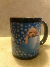 Keith Kimberlin Puppy in Mug Picture / Bubbles / Blue Encore Group No Stir Marks