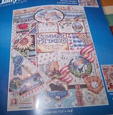"Janlynn SUMMER SAMPLER Summer Times  Counted Cross Stitch Kit 12.5"" x 16.5"""