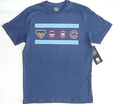 CHICAGO CUBS 47 Brand Cooperstown Dual Logo Shirt (Sz S Small) MLB Bleacher b73b6f0a9651