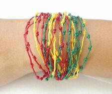 Handcrafted Rasta Knot Design Wax Cotton FAIR TRADE Womens BRACELET Wristband