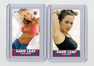 Elisha Cuthbert rare MH Dark Leaf #'d 3/3 Tobacco card no. 248