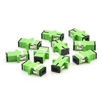 Lot of 10 SC/APC to SC/APC Simplex Single-mode Fiber Optic Adapter - 8818