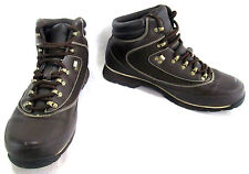 FUBU Mens Hiking Trail Dress Boot Brown Leather Lace Up Rubber Sole Size 12 US