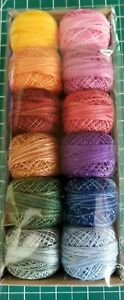 Valdani Perle Pearl Cotton Size 12 Embroidery Thread Whispering Sampler Set