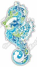 "Seahorse Marine Fish Sea Ocean Abstract Car Bumper Vinyl Sticker Decal 3""X6"""