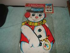 Vintage 1975 Beistle Snowman Jointed Cardboard Cut-Out