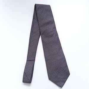 Mens Gieves & Hawkes Handmade 100% Silk Purple/Blue Tie Very Good Condition