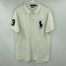 New listing Ralph Lauren Polo Shirt Mens Extra Large White Big Pony Rugby Short Sleeve *