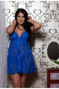Perfect4U Womens Babydoll Set & Thong Sexy Lingerie Underwear 18-20,22-24,26-28