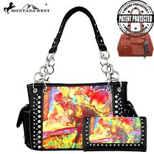 Montana West Horse Art Concealed Handgun Handbag Set