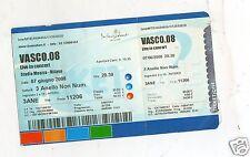 BIGLIETTO TICKET CONCERTO   VASCO ROSSI   MILANO  STADIO  MEAZZA  7 GIUGNO 2008