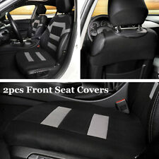 2x Black/Grey Car Front Seat Cover Protector Universal For Interior Accessories