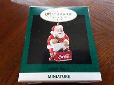 Hallmark Keepsake - Cool Santa CocaCola - Collector Club Miniature - Ornament
