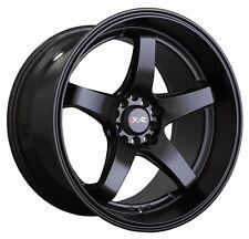 XXR 555 17x8 5x100/114.3 +35 Flat Black Brand New Set of (4) Wheels Rims