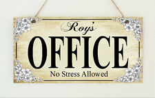 Hand Made Home Style Office Retro Vintage Door Hanging Sign Plaque Distressed