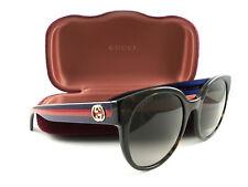 478c1eea04 New Gucci Sunglasses GG0035S Havana Blue Brown 004 Authentic