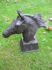 CHEVAL buste, statue , en fonte d une tête de cheval, chevaux   ...