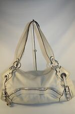 REDUCED B. Makowsky Ivory White Croco Embossed Soft Leather Satchel Tote Bag