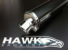 Kawasaki ZRX 1100 Schwarz Auspufftopf Oval Straßenzulassung