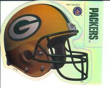 Green Bay Packers NFL Football Helmet 2 in 1 Sticker