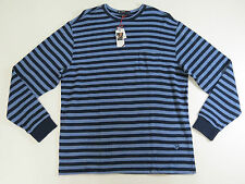 Cremieux Classics 38 Men Long Sleeve Blue Striped Crewneck  Sweater SZ Large