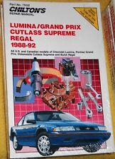 Repair Manual-d' PONTIAC Cutlass étagère Grand Prix 1988-92 (NOUVEAU) Manuel