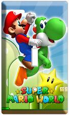 New Super Mario Yoshi Luigi Single Light Switch Cover Wallplate Ds Nintendo Wii