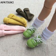 4pairs/lot Handmade Short Sock for Blythe 1:6 Doll Socks For Barbie Solid Socks