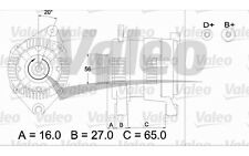 VALEO Alternador para CITROEN XSARA XANTIA PEUGEOT 306 EXPERT FIAT DUCATO 436477