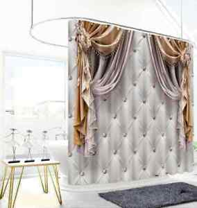 The Cloth Is Patterned 3D Shower Curtain Polyester Bathroom Decor  Waterproof