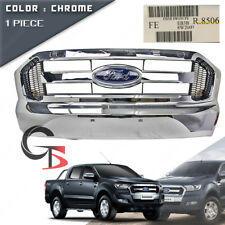 Front Grill Grille Chrome Genuine Trim Fits Ford Ranger T6 Pickup 2015 - 2017