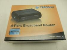 NEW TRENDnet 4-Port Broadband Router, 4 x 10/100 ports TW100-S4W1CA