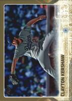 2015 Topps Gold Los Angeles Dodgers Baseball Card #451 Clayton Kershaw /2015