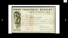 Omaha City, NE (Territory)- Auditor  Territory of Nebraska $28.50 Dec. 11, 1860