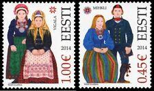 Stamp of ESTONIA 2014 -  Estonian Folk costumes – Mihkli & Vigala 2 stamps