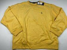 Nautica Yellow Men's Crewneck Pullover Sweatshirt Fleece Size 2XL NWT VTG
