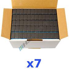 7 x 6KG 42KG Nero Pesi Equilibratura 12x5g Adesivi 200 Bullone Striscia