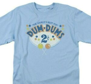 Dum-Dums T-shirt 2 Cents retro candy classic graphic tee DUM117 Blue