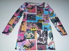 Bat Girl  Comic Multicolor Vibrant Long Sleeve Dress Polyester Blend Size Medium