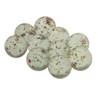 10 Pieces Clear Glass Marbles with Colorful Polka Dots for Vases or Games,