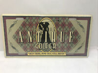 New Old Stock ANTIQUE GOLFER Embossed Metal License Plate