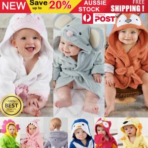 Kids Baby Infant Animal Hooded Bath Towel Bathrobe Cotton Beach Cover Cloak Coat