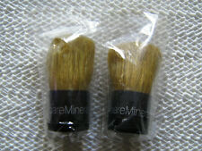 bareMinerals Bare Escentuals Tiny Mini Baby Buki Kabuki Brush Black Handle x 2