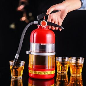 2L Fire Extinguisher Portable Wine Decanter For Beer Party Liquor Bar Accessory